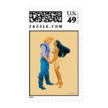 Pocahontas and John Smith Holding Hands Stamp