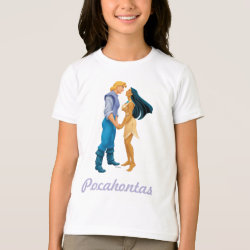 Girls' American Apparel Fine Jersey T-Shirt with Pocahontas & John Smith Forever design