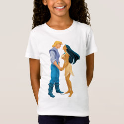 Girls' Fine Jersey T-Shirt with Pocahontas & John Smith Forever design