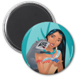 Pocahontas and Meeko 2 Inch Round Magnet