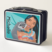 Pocahontas and Meeko Metal Lunch Box