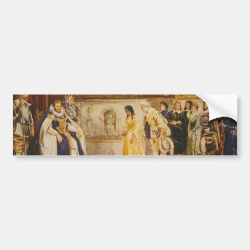 Pocahontas at the Court of King James by Rummels Bumper Stickers