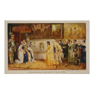 Pocahontas at the Court of King James by Rummels Poster