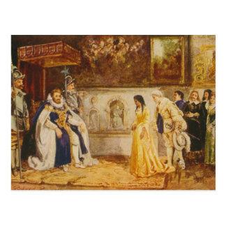 Pocahontas en la corte de rey James por Rummels Postales