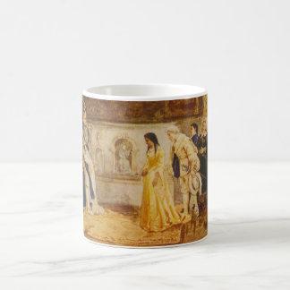 Pocahontas en la corte de rey James por Rummels Taza De Café