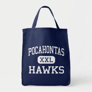Pocahontas Hawks Richmond media Virginia Bolsa De Mano