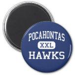 Pocahontas Hawks Richmond media Virginia Imán De Frigorífico