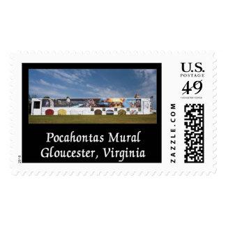 Pocahontas Mural Postage Stamp