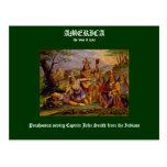 Pocahontas saving Captain John Smith Postcards