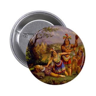 Pocahontas Saving the Life of Captain John Smith Button