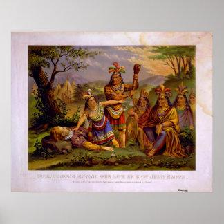 Pocahontas Saving the Life of Captain John Smith Poster