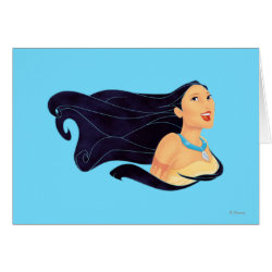 Greeting Card with Pocahontas Colors of the Wind design