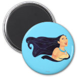 Pocahontas Smiling 2 Inch Round Magnet