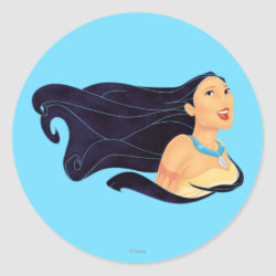 Round Sticker with Pocahontas Colors of the Wind design