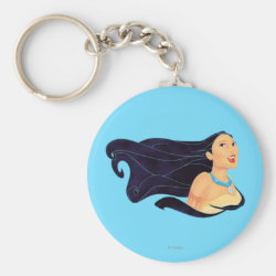 Basic Button Keychain with Pocahontas Colors of the Wind design