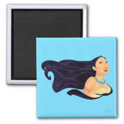 Square Magnet with Pocahontas Colors of the Wind design