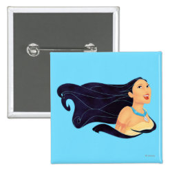 Square Button with Pocahontas Colors of the Wind design