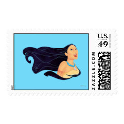 Medium Stamp 2.1' x 1.3' with Pocahontas Colors of the Wind design