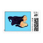 Pocahontas Smiling Postage Stamp