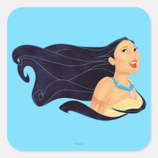 Pocahontas Smiling Square Sticker