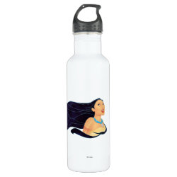 Water Bottle (24 oz) with Pocahontas Colors of the Wind design