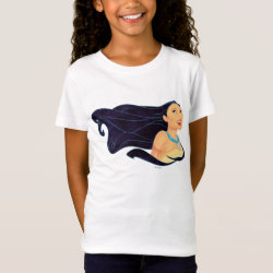 Girls' Fine Jersey T-Shirt with Pocahontas Colors of the Wind design