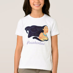 Girls' American Apparel Fine Jersey T-Shirt with Pocahontas Colors of the Wind design