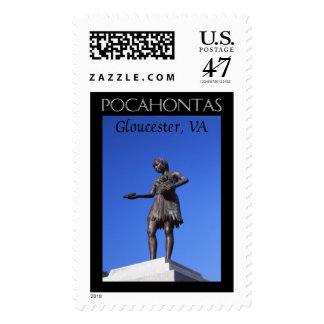 Pocahontas Statue Postage