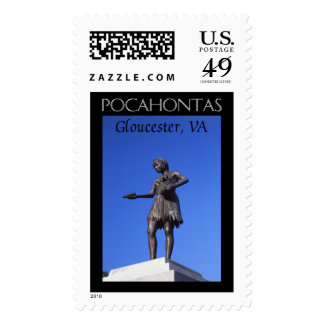Pocahontas Statue Stamps