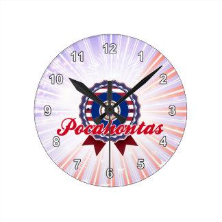 Pocahontas, VA Reloj De Pared
