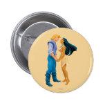 Pocahontas y John Smith que llevan a cabo las mano Pin Redondo 5 Cm