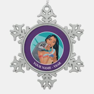 Pocahontas y Meeko Adorno De Peltre En Forma De Copo De Nieve