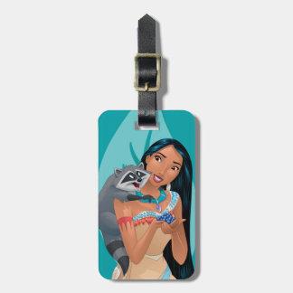 Pocahontas y Meeko Etiquetas De Maletas