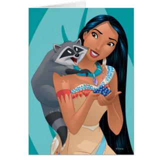 Pocahontas y Meeko Tarjeta De Felicitación