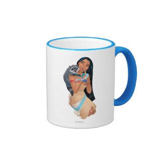 Pocahontas y Meeko Taza De Dos Colores