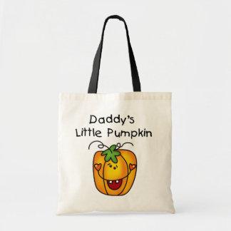 Pocas camisetas y regalos de la calabaza del papá bolsas lienzo