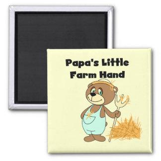 Pocas camisetas y regalos de la mano de la granja imán cuadrado