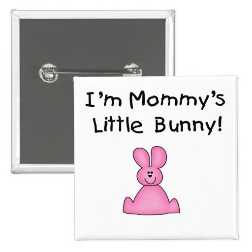 Pocas camisetas y regalos del conejito de la mamá  pin cuadrada 5 cm