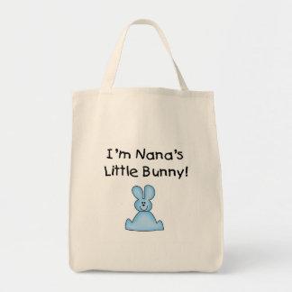 Pocas camisetas y regalos del conejito de Nana azu Bolsa Tela Para La Compra