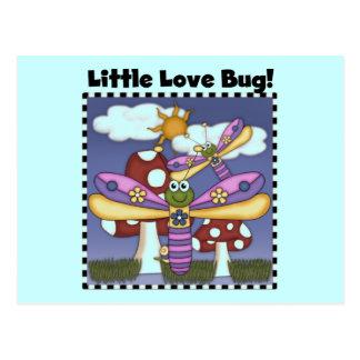 Pocas camisetas y regalos del insecto del amor tarjetas postales