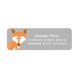 Pocas etiquetas de dirección del Fox