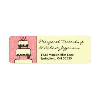 Pocas etiquetas de dirección personalizadas pastel