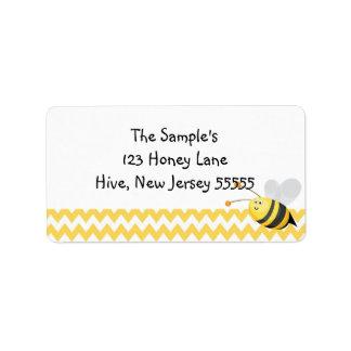 Pocas etiquetas de la miel etiqueta de dirección