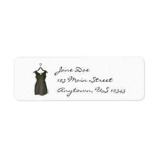 Pocas etiquetas negras de la moda de la suspensión etiqueta de remite