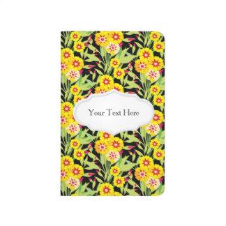 Pocas floraciones del girasol del amarillo cuadernos grapados