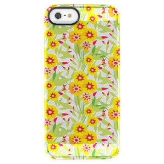 Pocas floraciones del girasol del amarillo funda clearly™ deflector para iPhone 5 de uncommon