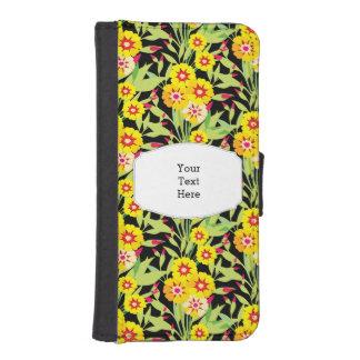 Pocas floraciones del girasol del amarillo funda billetera para teléfono