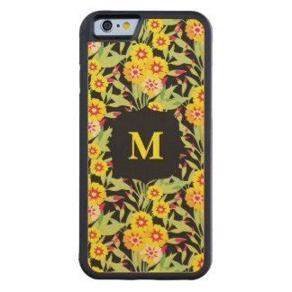 Pocas floraciones del girasol del amarillo funda de iPhone 6 bumper arce