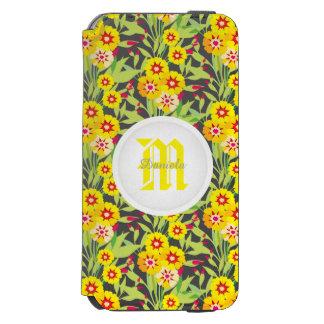 Pocas floraciones del girasol del amarillo funda billetera para iPhone 6 watson