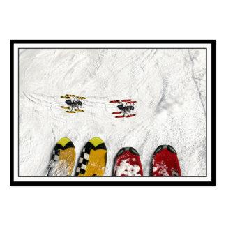 Pocas hormigas del esquí tarjeta personal